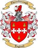 Cheeseborough Family Crest from England