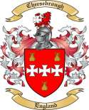 Cheesebrough Family Crest from England