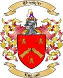 Cheeshire Family Crest from England