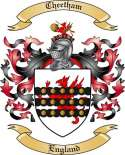 Cheetham Family Crest from England
