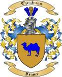 Chemineau Family Crest from France