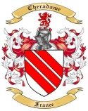 Cheradame Family Crest from France