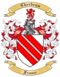 Cherbrun Family Crest from France
