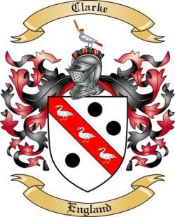 Clarke Family Crest From England By The Tree Maker