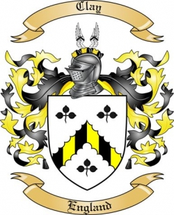 clay family crest from england by the tree maker