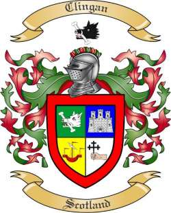 Clingan Family Coat of Arms from Scotland