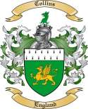 Collins Family Coat of Arms from England