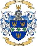 Crooks Family Coat of Arms from England