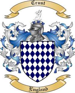 crust family crest from england by the tree maker
