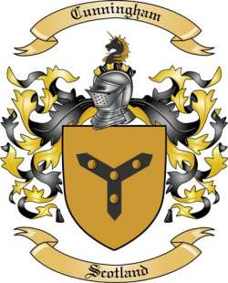Cunningham Family Crest From Scotland By The Tree Maker