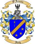 D'Acunto Family Coat of Arms from Italy