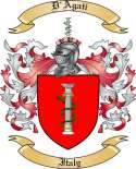 D'Agati Family Coat of Arms from Italy