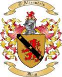 D'Alexandris Family Crest from Italy