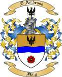 D'Ambroso Family Coat of Arms from Italy