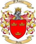 D'Amico Family Coat of Arms from Italy
