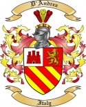 D'Andrea Family Coat of Arms from Italy2