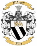 D'Angeli Family Crest from Italy