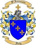D'Annunzio Family Coat of Arms from Italy
