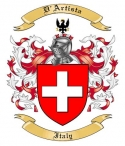 D'Artista Family Crest from Italy