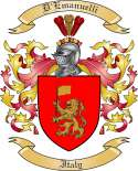 D'Emanuelli Family Coat of Arms from Italy