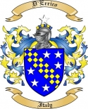 D'Errico Family Crest from Italy