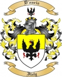 D'auria Family Coat of Arms from Italy