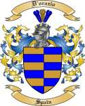 D'orazio Family Crest from Spain