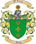 D Anna Family Coat of Arms from Italy