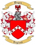 Dages Family Crest from England