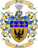Daigle Family Coat of Arms from France