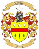 Dainelli Family Crest from Italy