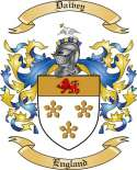 Daivey Family Coat of Arms from England