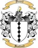 Daneil Family Crest from Scotland