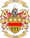 Dani Family Crest from Italy