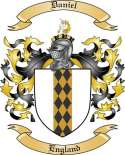 Daniel Family Crest from England