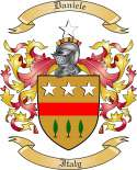Daniele Family Coat of Arms from Italy