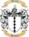 Daniell Family Coat of Arms from Scotland
