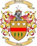 Danielli Family Coat of Arms from Italy