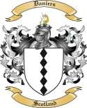 Daniers Family Coat of Arms from Scotland