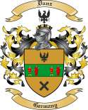 Danz Family Coat of Arms from Germany