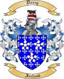 Darcy Family Coat of Arms from Ireland