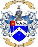 Dauewesone Family Coat of Arms from England