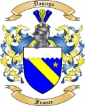 Daunys Family Crest from France2