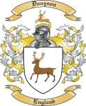 Dauyson Family Coat of Arms from England