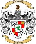 Davenport Family Crest from England
