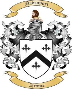 Davenport Family Coat of Arms from France