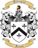 Davenport Family Crest from France