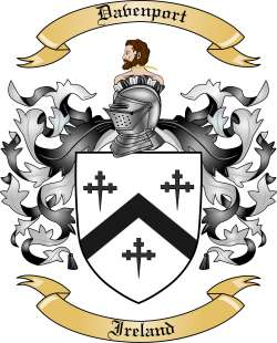 Davenport Family Coat of Arms from Ireland