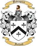 Davenport Family Crest from Ireland
