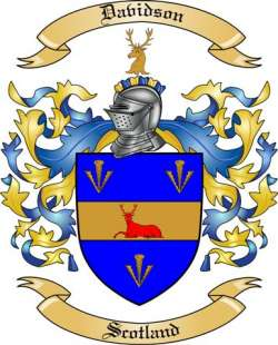 Davidson Family Crest From Scotland By The Tree Maker